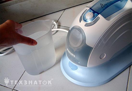 вода для отпаривателя