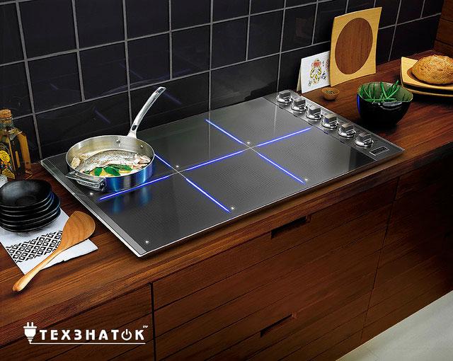 индукционная плита в интерьере