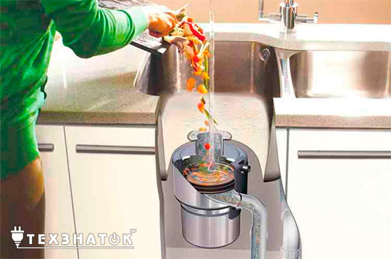 Установка измельчителя пищевых отходов своими руками