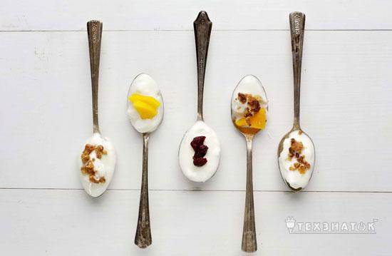 йогурт с разными добавками